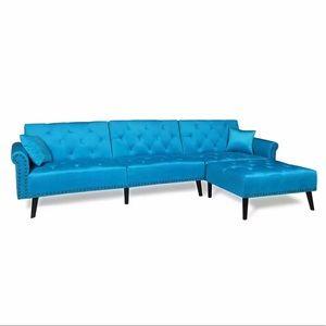 Vintage Modern Adjustable Sofa Bed Set